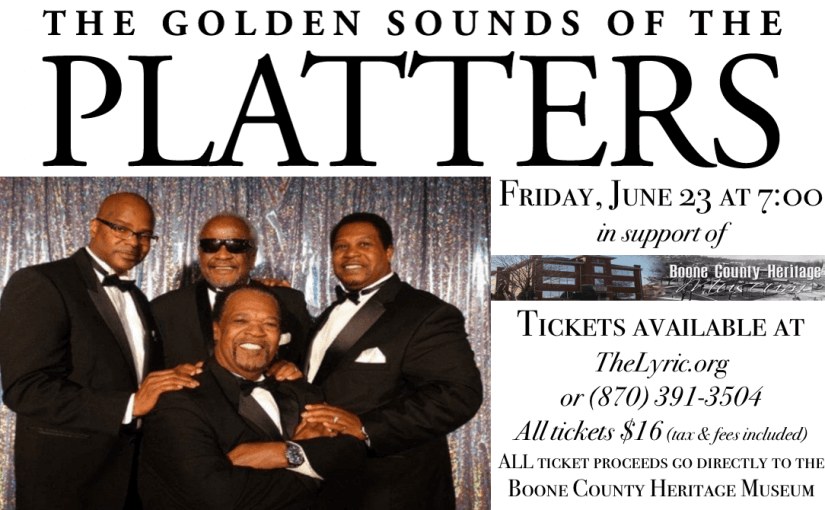Golden Sounds of the Platters! — Friday, June 23, 2017 at 7:00 — #LiveAtTheLyric!