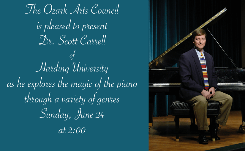 Piano Magic with Scott Carrell — Sunday June 24 at 2pm — #LiveAtTheLyric!