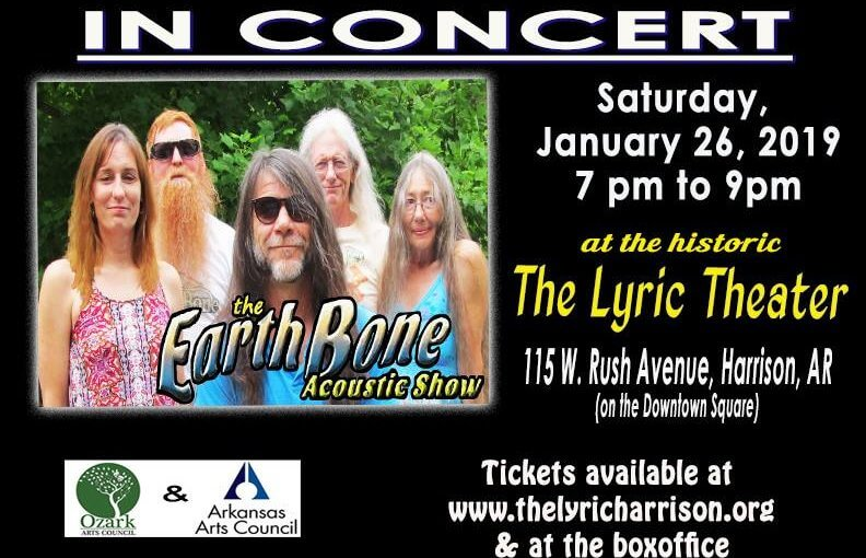 Earth Bone in Concert — Saturday, January 26 at 7:00pm — #LiveAtTheLyric!
