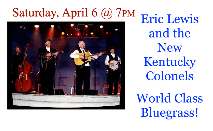 New Kentucky Colonels – April 6 @ 7:00 – #LiveAtTheLyric!