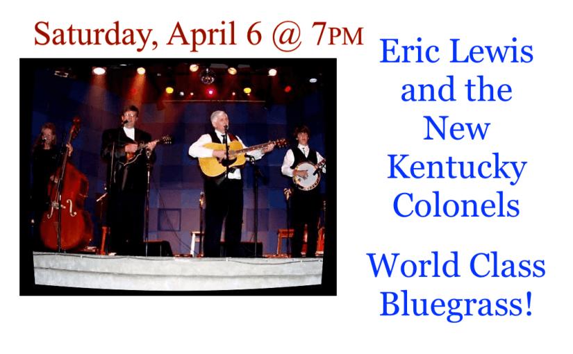 New Kentucky Colonels – April 6 @ 7:00 – #LiveAtTheLyric!