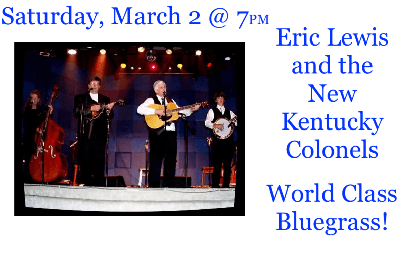 RESCHEDULED TO APRIL 6 — New Kentucky Colonels – April 6 @ 7:00 – #LiveAtTheLyric!