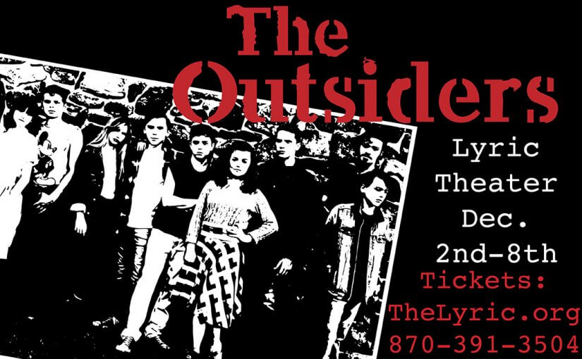 The Outsiders, December 2–7 at 7pm, December 8 at 2pm, plus school matinees! #LiveAtTheLyric!