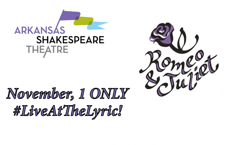 Romeo and Juliet, ONE Day Only! November 1 at 7pm  #LiveAtTheLyric!