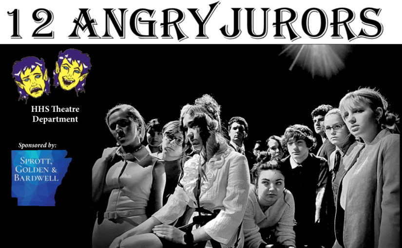 12 Angry Jurors, Thursday & Saturday, November 14 & 16 at 6pm, Friday, Nov. 15 at 5pm, and Sunday Nov. 17 at 2pm! #HHSTheatre!