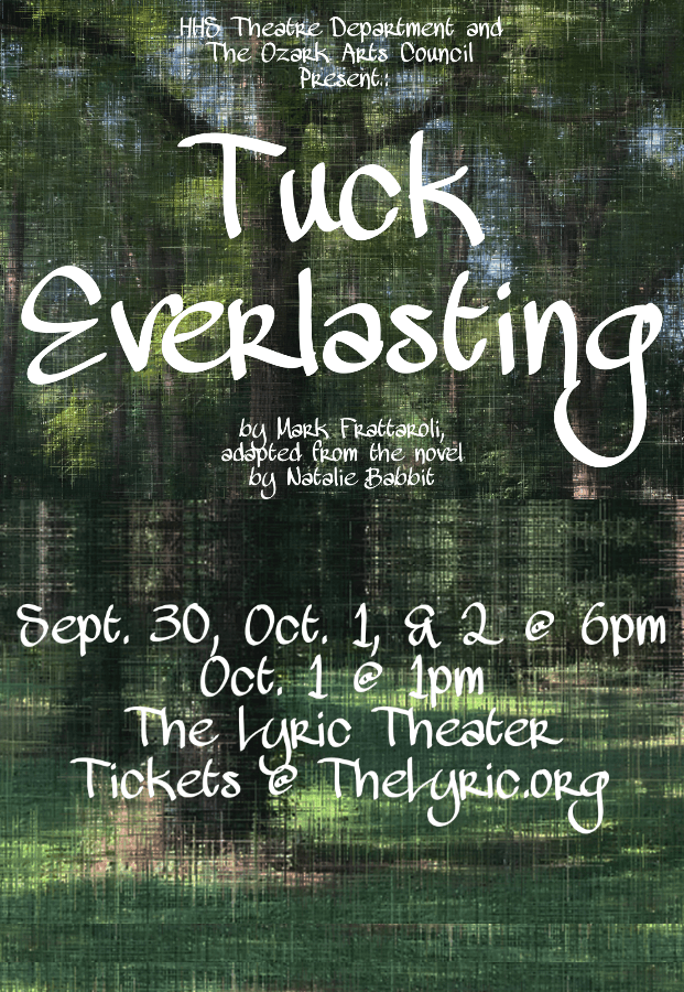 HHS@TheLyric: Tuck Everlasting, September 30–October 2 at 6pm, as well as Oct. 2 at 1pm! #LiveAtTheLyric!