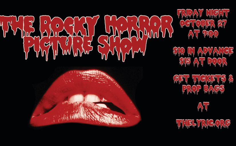 "Cult Classic Alert: ""The Rocky Horror Picture Show"" on the Big Screen…and Prop Bags Available! — Friday, October 27, 2017 at 9pm!"