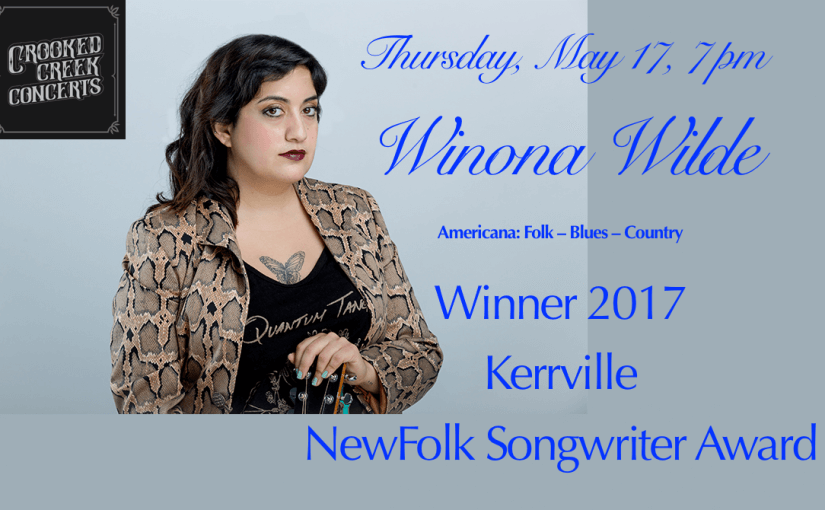 Winona Wilde — Thursday May 17 at 7pm — #LiveAtTheLyric!